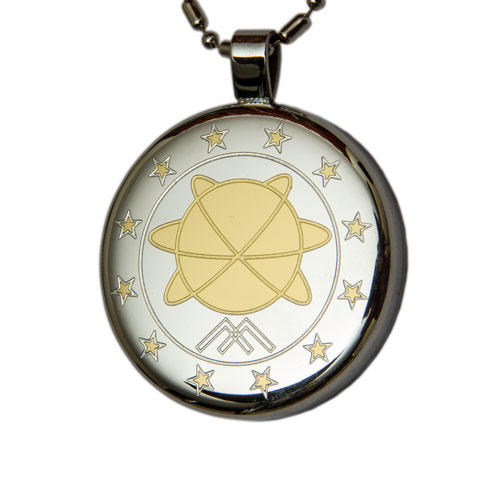 Aarogyam Silver Gold Plated MST Quantum Science Pendant with Magnets